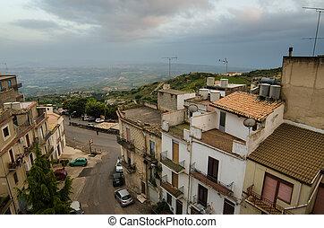 Mountain town Caltabellotta, Sicily - Mountain town -...