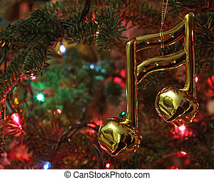 Music Note Christmas Ornament - A music note Christmas...