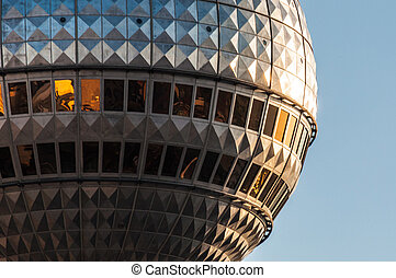Fernsehturm - view of the high Fernsehturm in Berlin