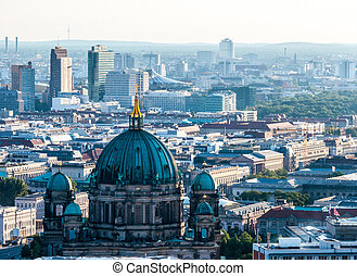 Berlin from above - aerial view of the center of Berlin,...