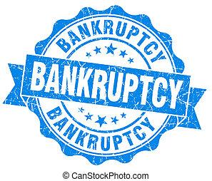 Bankruptcy blue grunge vintage seal