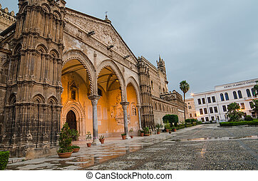 The cathedral of Palermo, Sicily, Italy Early morning
