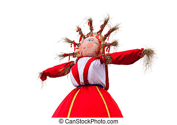 Shrovetide. Big doll for the burning