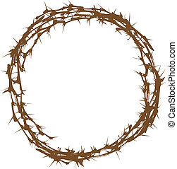 Crown of Thorns - Illustration of Crown of Thorns Over White