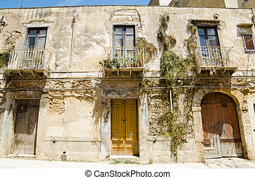 Old Town of Castelvetrano, Sicily Island, Italy