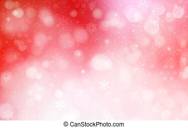 Christmas red background with snow flakes