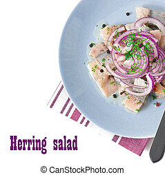 Herring salad with onion