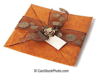Wedding invitation - Beautiful wedding invitation isolated...