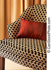 Colorful cushions on the chair - Colorful cushions on a...