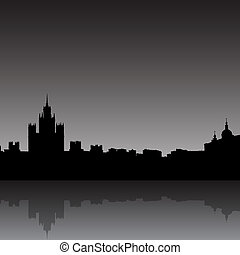 Moscow city silhouette skyline vector illustration