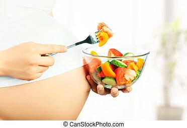 sano, nutrición, embarazo, embarazada, mujer,...