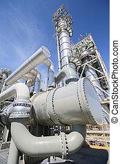Heat exchanger in industrial plant - Big heat exchanger in...