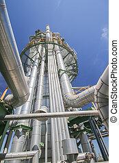 químico, refinería, torre