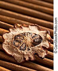 asam keping - close up of dried  asam keping