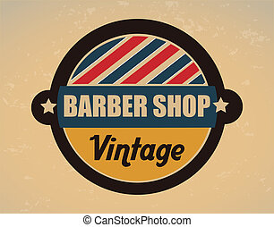 barber shop over vintage background vector illustration