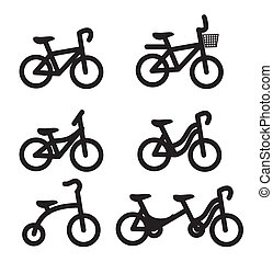 bicycle design over white background vector illustration
