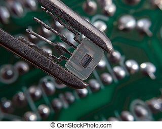 Electronic assembly - Optocoupler in pincers electronic...