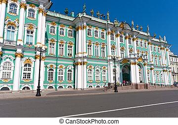 Hermitage in Saint Petersburg - Hermitage Museum - Winter...