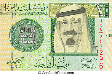 Saudi Arabian riyal - Fragment of the Saudi Arabian riyal