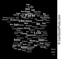 Text graphic France map
