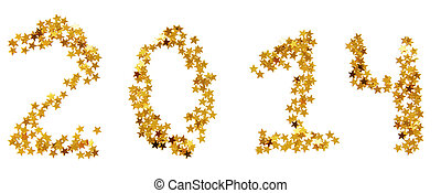 Twenty-fourteenth New Year of gold stars - Two thousand...