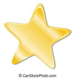 Decorative star with golden frame