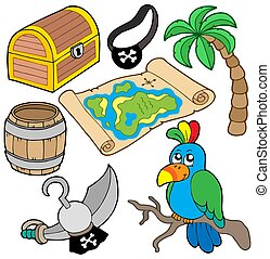 Pirate collection 7 on white background - isolated...