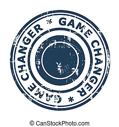 Game Changer business stamp isolated on a white background