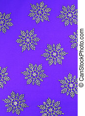 Purple background with snowflakes