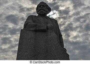 Karl, Marx, monumento, moscú