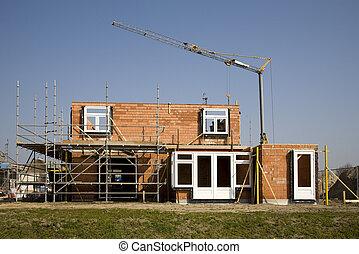 Construction site - A construction site in Leusden, Utrecht,...