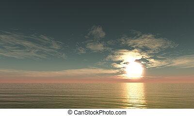 sun rise from horizon