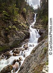 """Waterfall """"Barskoon"""" in Tien Shan, Kirgizstan - Waterfall..."""
