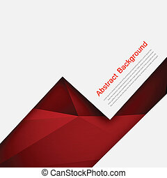 Vector abstract background Polygon red and black