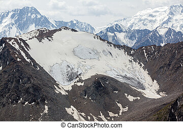 Landscape of Tien Shan mountains range. Kyrgyzstan