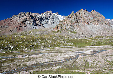 Mountain river. Tien Shan, Kyrgyzstan