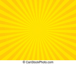Yellow flare background. Illustration.