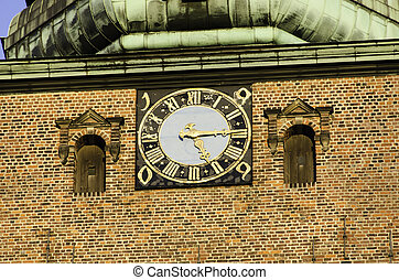 Church clock - The big church clock of sankt Nikolaj Church...