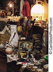 Antique shop - Looking through the window of an antique
