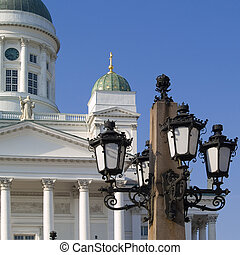 Helsinki Cathedral - Helsinki cathedral with hammered city...