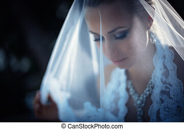 Beauty - Beautiful young bride with a veil