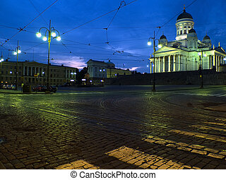 Night in Helsinki - Helsinki cathedral during the night...