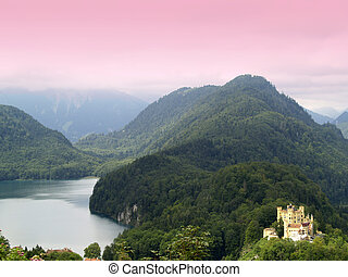 Hohenschwangau Castle - Hohenschwangau castle view from...