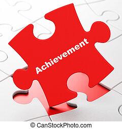 Education concept: Achievement on puzzle background