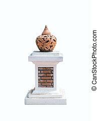 Lighting pottery on the pole