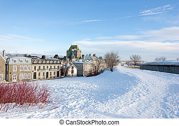 winter time - Chateau Frontenac in winter time
