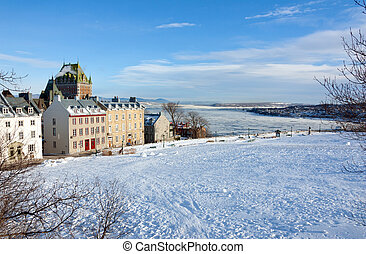 Quebec City - Chateau Frontenac in winter