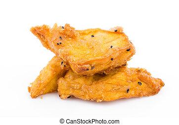 Yam - Fried yam on white background