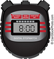 Digital stopwatch - Classic sports multifunctional digital...