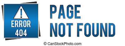404 Page Not Found - Blue Banner - Banner image with 404 not...